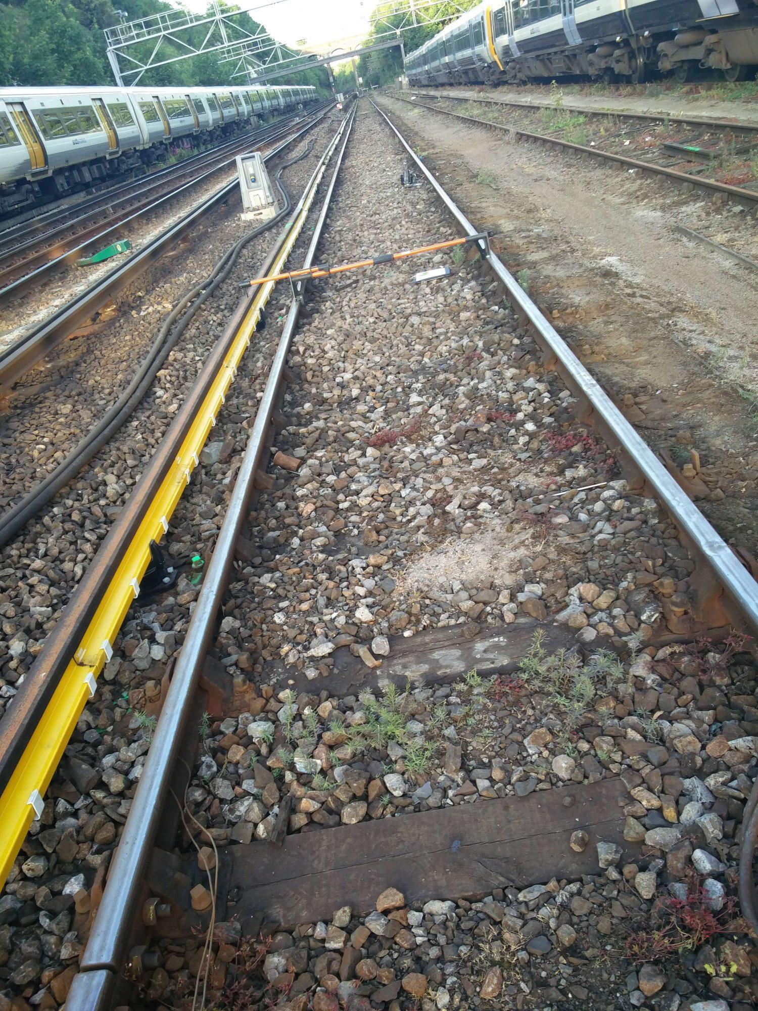 Conductor rail slew