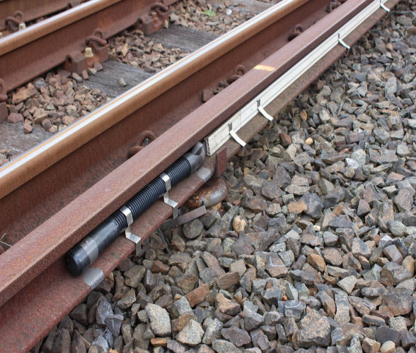 Example of Con Rail heating end joint