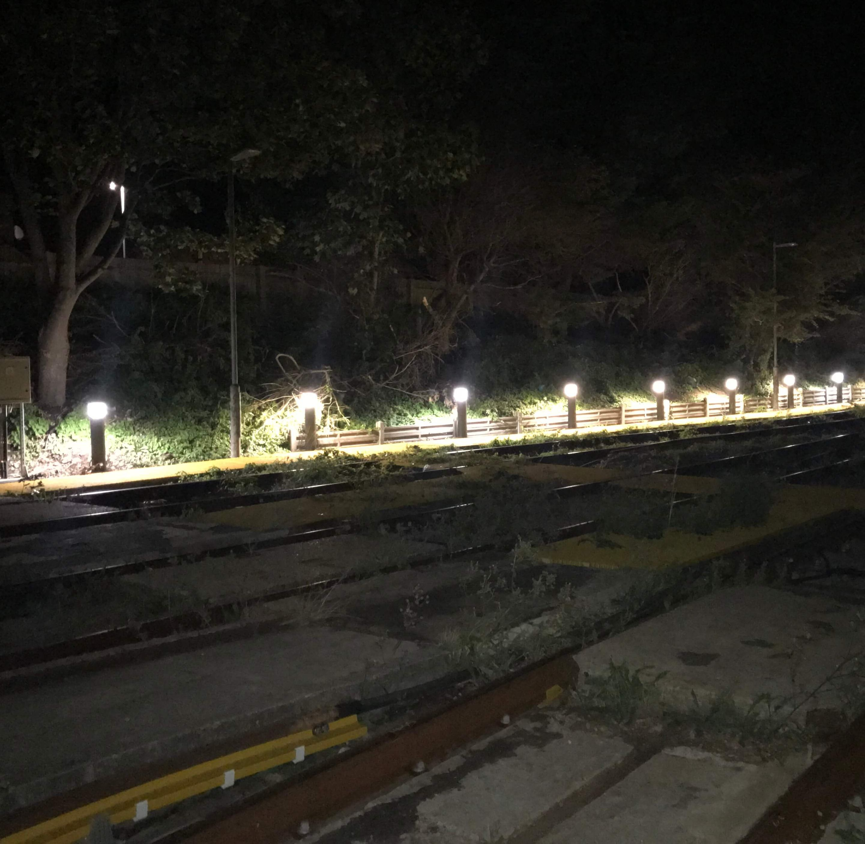 Sidings bollard lighting installation