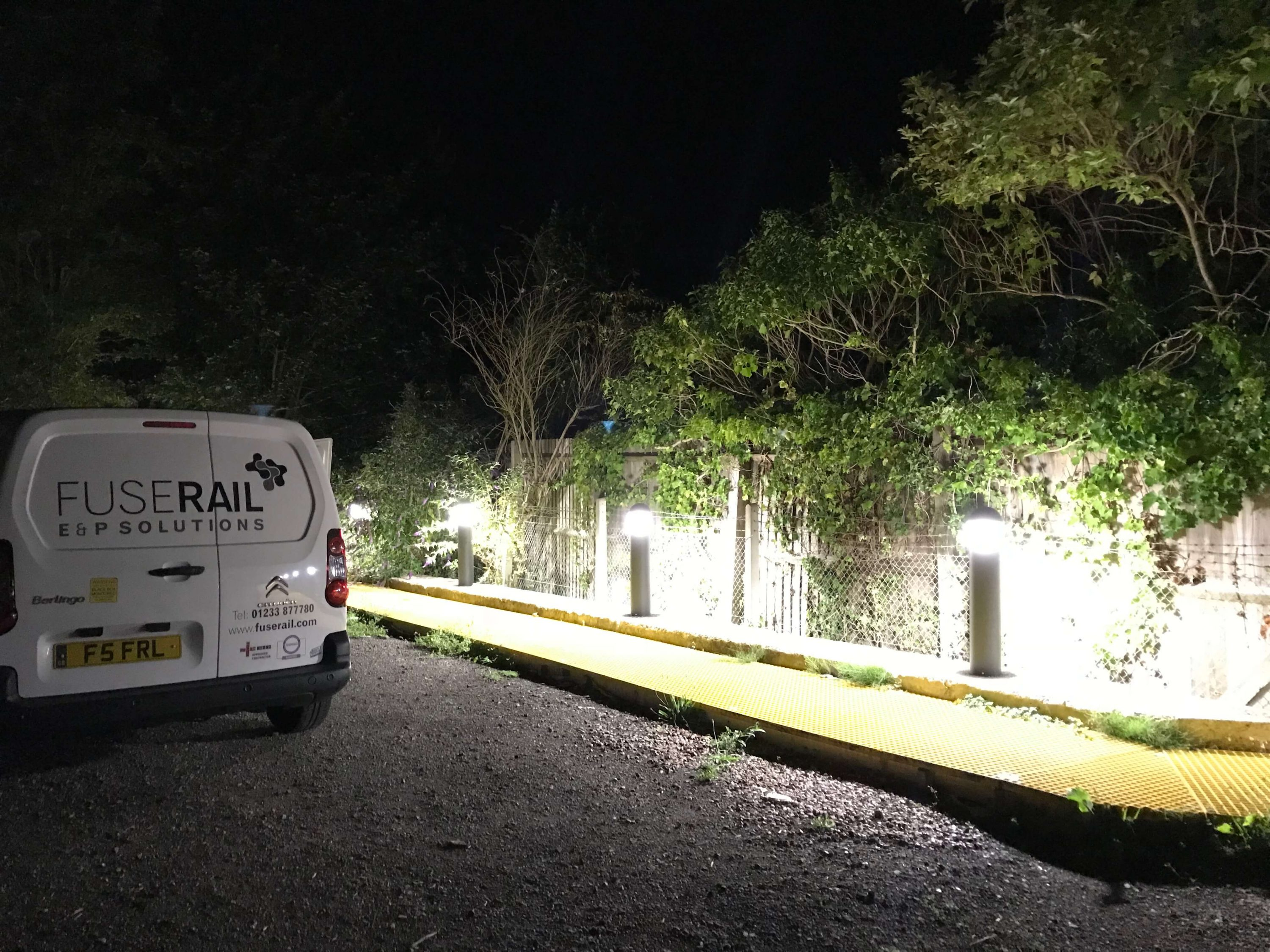 Low level walkway lighting installation.